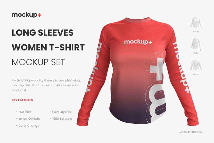 Download Long Sleeves Women T Shirt Mockup Shirt Mockup Tshirt Mockup T Shirt Image