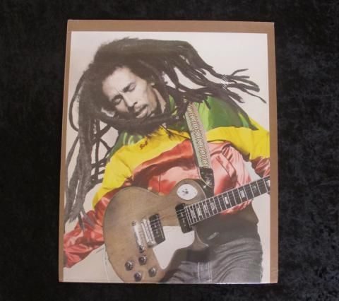 "Bob Marley Poster, Rasta Man. Printed in Switzerland. Ships rolled. Approximately 20"" x 16""."