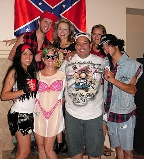 what to wear for white trash party