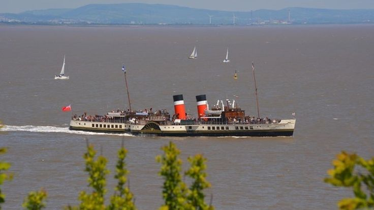 The Waverley leaving Penarth, Vale of Glamorgan, as seen by Terence Rickards.