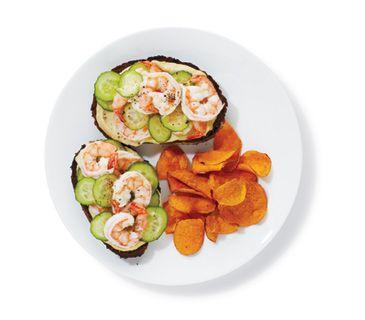 Shrimp and Hummus Sandwiches