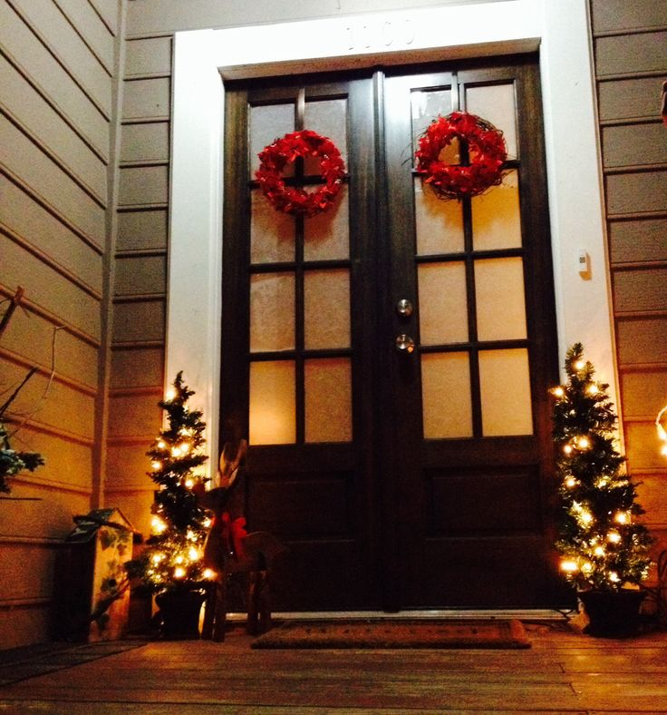 Christmas Decor For A Double Front Door