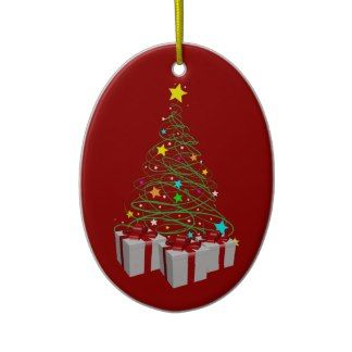Christmas gifts and tree ornament