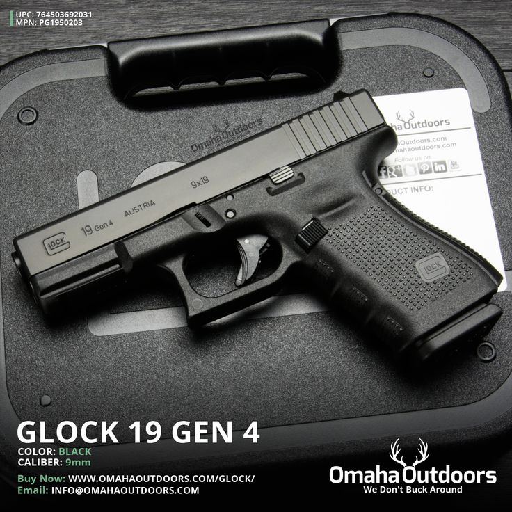 Glock 19 Gen 4 9mm 15 RDS 4.02″ Handgun - Omaha Outdoors