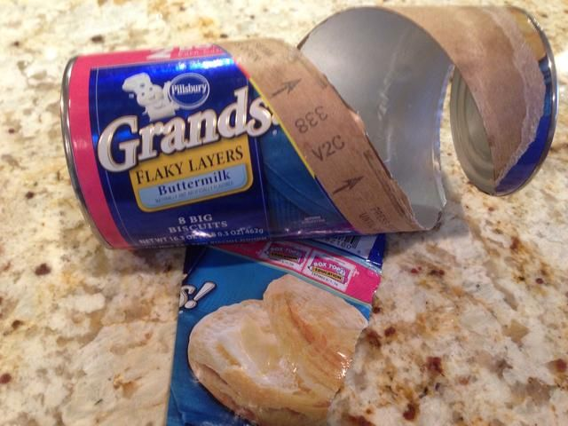 Use canned biscuit dough.