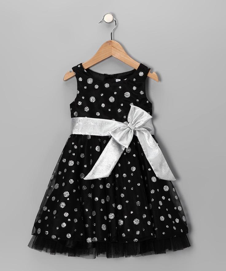 Black Polka Dot Sparkle Dress