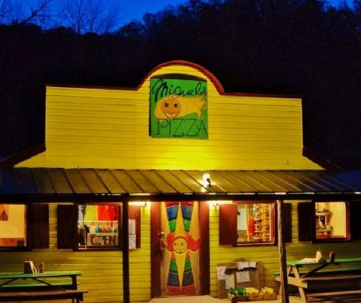 Red River Gorge miguels pizza - Rock climber's paradise. Need I say more. Settled in the incredible Red River Gorge in Kentucky Miguel's offers cheap and communal camping, rock climbing gear and AMAZING pizza, waffles and breakfast burritos!