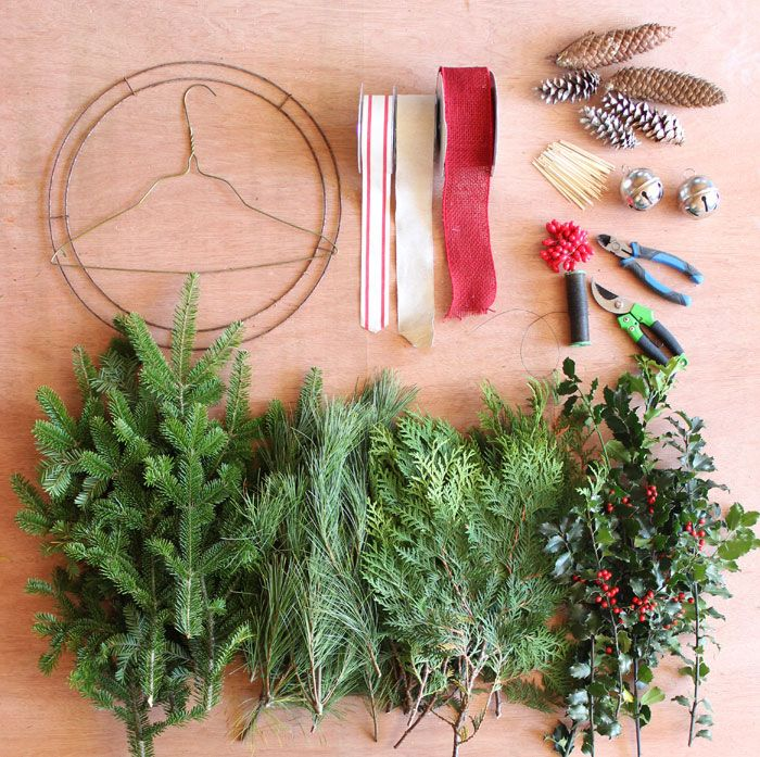 Learn to easily make a Christmas swag for your outdoor Christmas decorations…