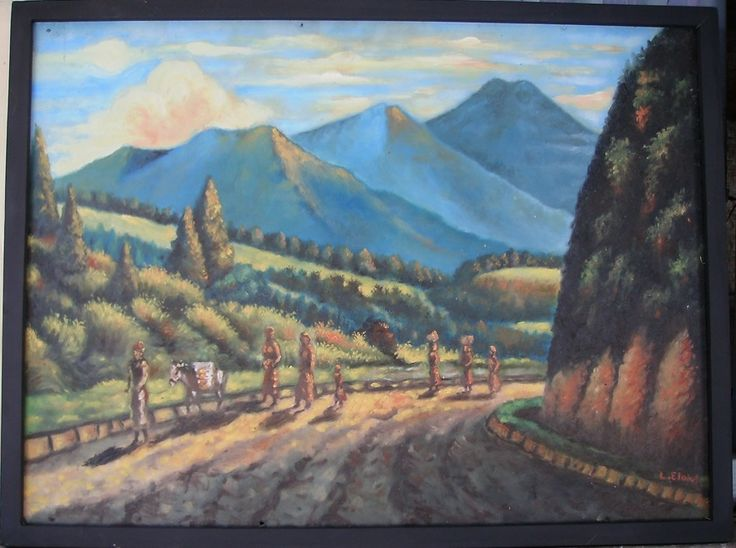 Landscape  - hardboard - 45 x 60 cm - Rp 400.000,-