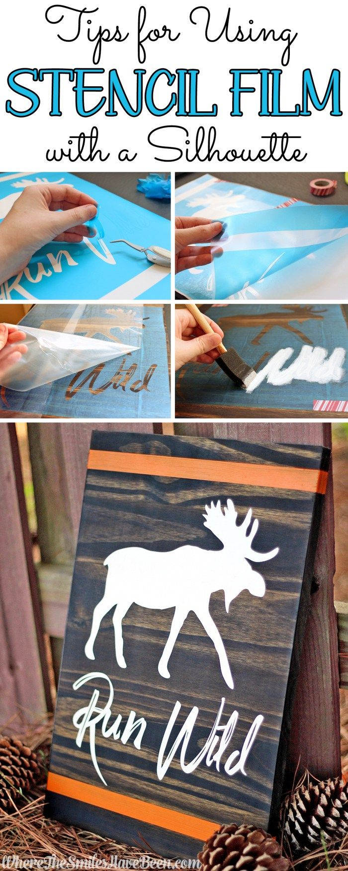 Tips for Using Stencil Film with a Silhouette | Where The Smiles Have Been