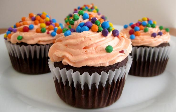 Orange You Glad Birthday Cupcakes
