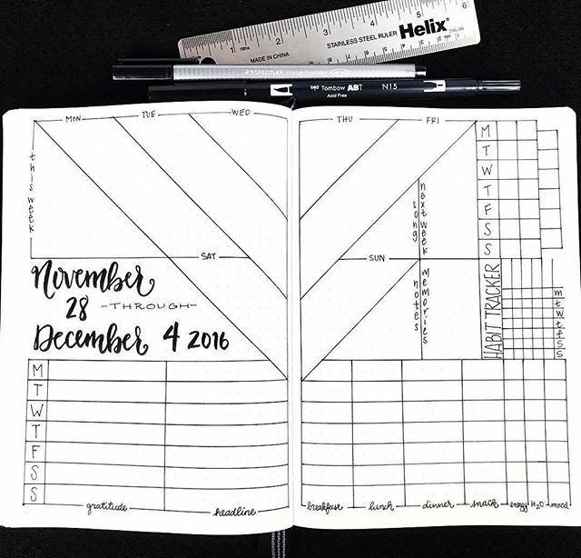 @bulleteverything has some really interesting #weeklyspread ideas. And you can watch her draw them in supersonic speed. Check out her feed if you're stuck in a #bulletjournal rut. #Repost @bulleteverything ・・・ Final pic from the last video. 😊#beforethepen  #bulletjournalchallenge #bulletjournaljunkies #bulletjournallove #bulletjournaladdict  #bulletjournalcommunity #bulletjournal #bulletjournalling  #leuchtturm1917 #planner #journal #artjournal #journaling #visualjournal  #study #studblr…