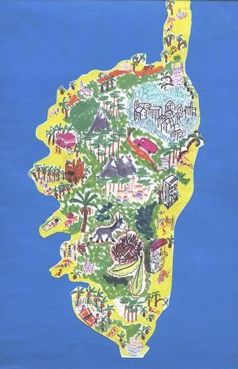 78 Best Corsica Art Prints Maps Images On Pinterest Vintage