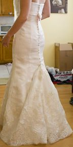 Wedding dress bustle tutorial