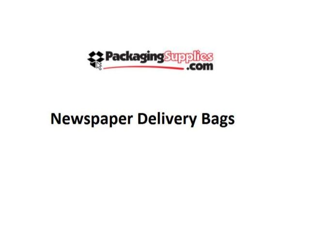 Newspaper Delivery Bags