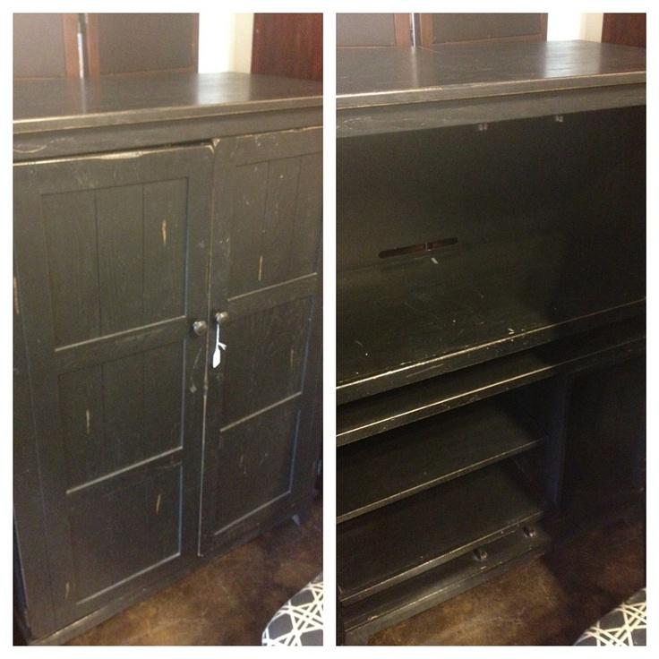 broyhill black computer armoire