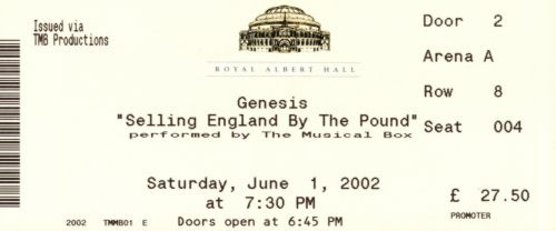 The Musical Box (Genesis cover band) - Selling England by the Pound, London, 2002