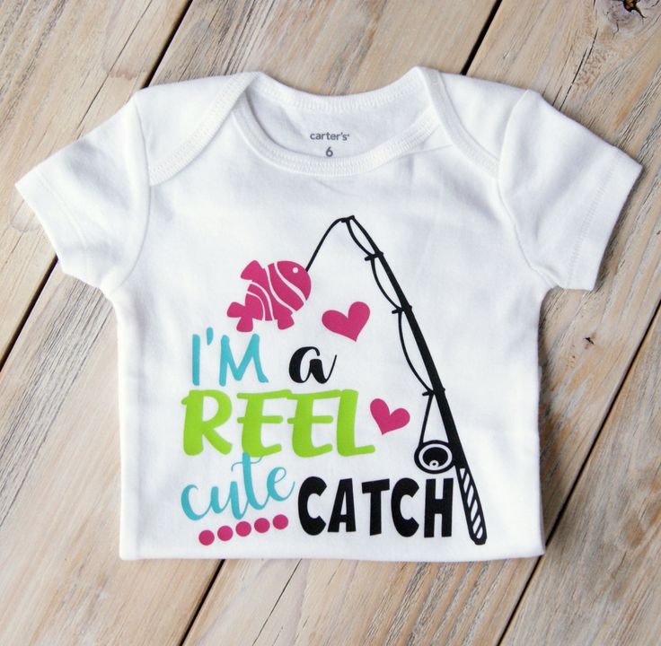 I'm a REEL Cute Catch-Fishing-Baby Girl Onesie-Custom Onesie-Baby Girl Clothing-Baby Shower-Cute-Fishing Baby-Hearts-Reel by MyFayevoriteThings on Etsy