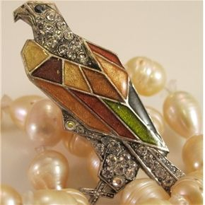 Art Deco Eagle Hawk Pin from France