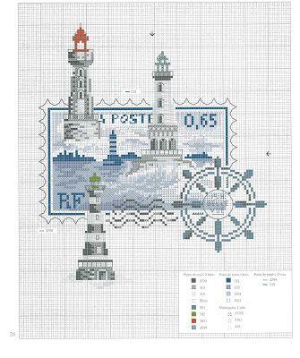 Хобби и досуг: Схемы вышивки крестом в морской тематике