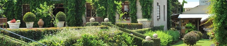 Beautiful gardens at Casterbridge Lifestyle Centre in White River, South Africa