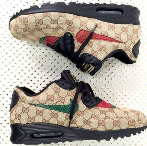 air max 90 gucci authentic look pinterest best air. Black Bedroom Furniture Sets. Home Design Ideas