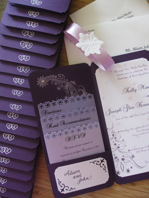 This Home Plate: Purple Wedding Invitations