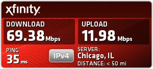 Comcast Speed Test on Toshiba - Sep 12 at 6:55am: