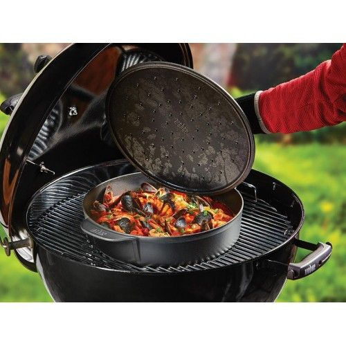 DK´s bedste online priser på grill og tilbehør til Weber | køb F.eks. Weber Original Gourmet Stegegryde BBQ System 8842 - NYHED | Hurtig levering