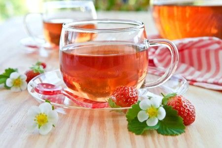 Drinks Tea Strawberry Cup Food