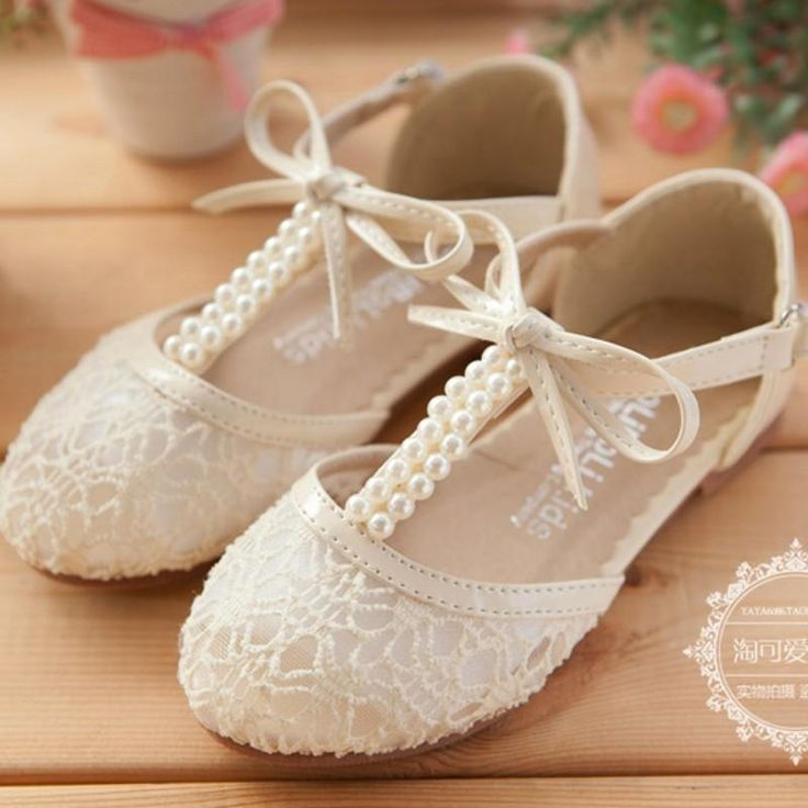 6bfbab289947 Cute Wedding Girls Shoes Lace Pearl Bow Hollow Lace Up Flower Girl Shoes  Party Formal Event Shoes For Girls Black Girls School Shoes Cute Little  Girl Shoes ...