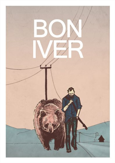 This is an awesome poster design for bon iver, this design captures him pretty well.
