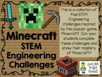 STEM Engineering Minecraft Challenges