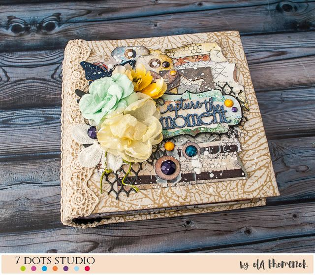 LikeArtStudio by Ola Khomenok: Dreamscapes mini album + tutorial. 7 Dots Studio DT.