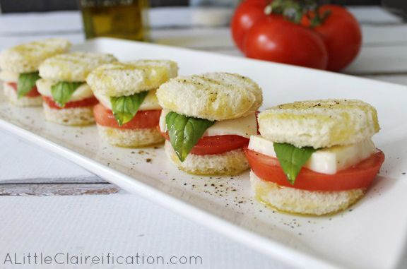 While tomato and mozzarella are often served together as an appetizer, turning the classic caprese combination into a sandwich makes it even more tasty.