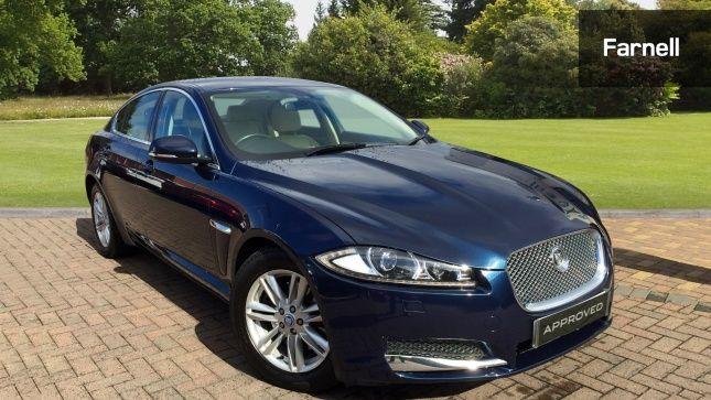 Jaguar XF 2.2D [163] Luxury 4Dr Auto Diesel Saloon Indigo Blue