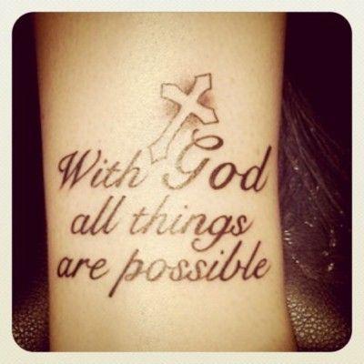 Like the cross on my wrist.