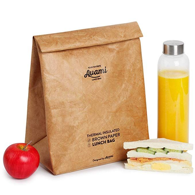 Eco Lunch Bag Reusable Insulated Paper Snack Bags for Work Picnic School Tyvek Lunch Box for Women Man