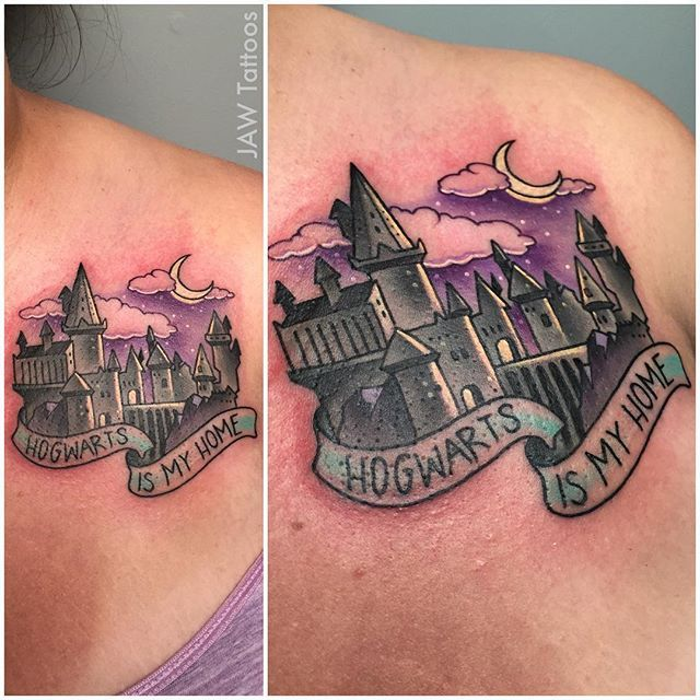 18 Spellbinding Hogwarts Tattoos   Tattoodo.com
