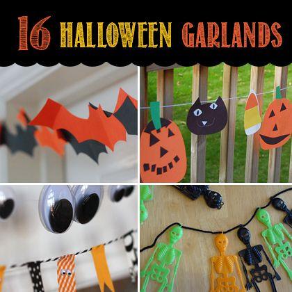 16 DIY Halloween Garlands   Spoonful