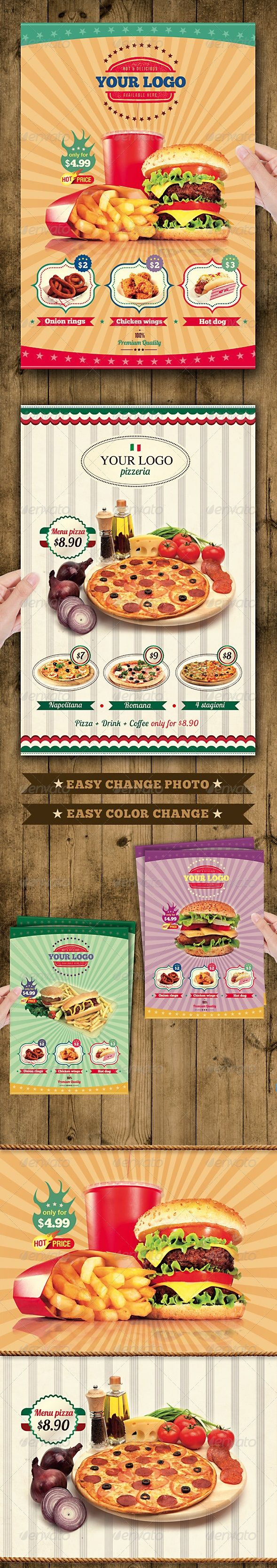 FAST FOOD FLYER MENU. Get it customized as per your needs in only $15.67 http://www.devloopers.com/design/flyers/restaurant-flyer/fast-food-flyer-menu