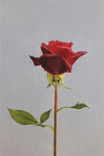 """Rose"" - Original Fine Art for Sale - © Maureen Killaby"