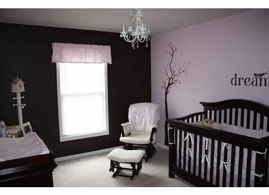 Brown and pink nursery