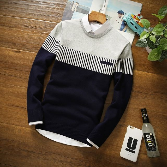 2016 Nuevo Otoño Moda Casual Hombres Suéter de Cachemira Del O-cuello Slim Fit Tejido de Punto Para Hombre de los Suéteres Y Jerseys de Los Hombres