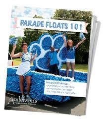 Image result for blue and white homecoming float decorations