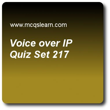 Voice Over IP Quizzes:  computer networks Quiz 217 Questions and Answers - Practice networking quizzes based questions and answers to study voice over ip quiz with answers. Practice MCQs to test learning on voice over ip, multicast routing protocols, hdlc, error detection, message integrity quizzes. Online voice over ip worksheets has study guide as to perform tracking of an ip, session initiation protocol (sip), uses concept of, answer key with answers as registration, termination…