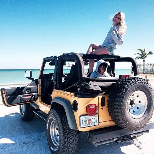 jeep + the ocean