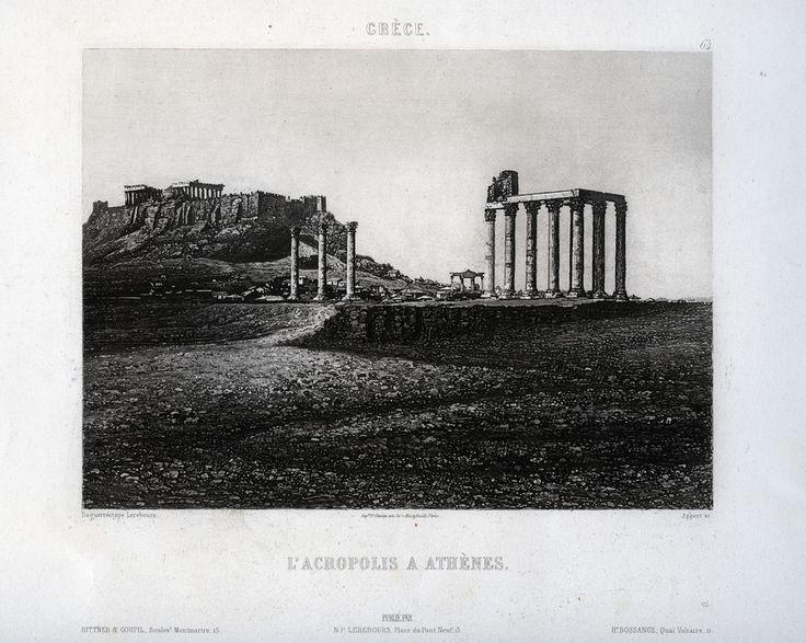 L'Acropolis A Athenes, 1842