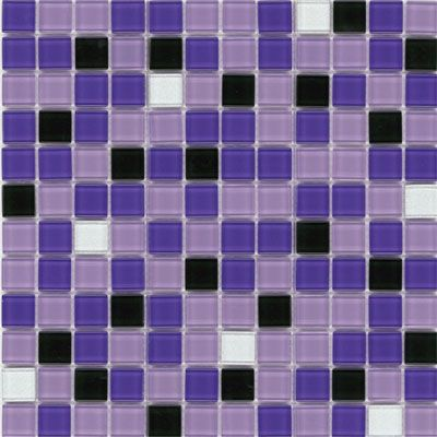 Elida Ceramica Elida Colors Mosaic Ultra Violet CHIGLABR209 ·  Glasmosaikfliese AufkantungWandfliesenMosaikglasLila KücheBadezimmer ...
