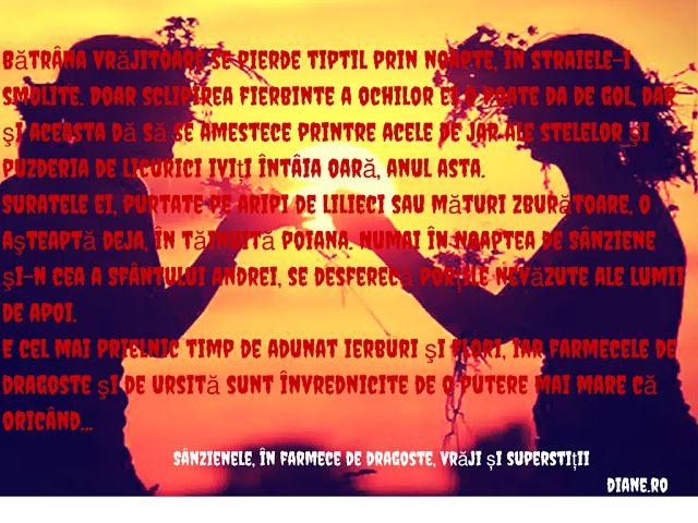Farmece de dragoste, vrăji, superstiții de Sânziene